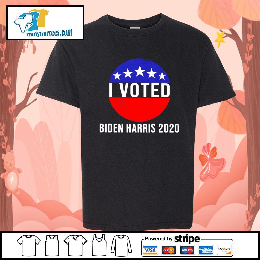 I Voted Biden Harris 2020 s Kid-T-shirt