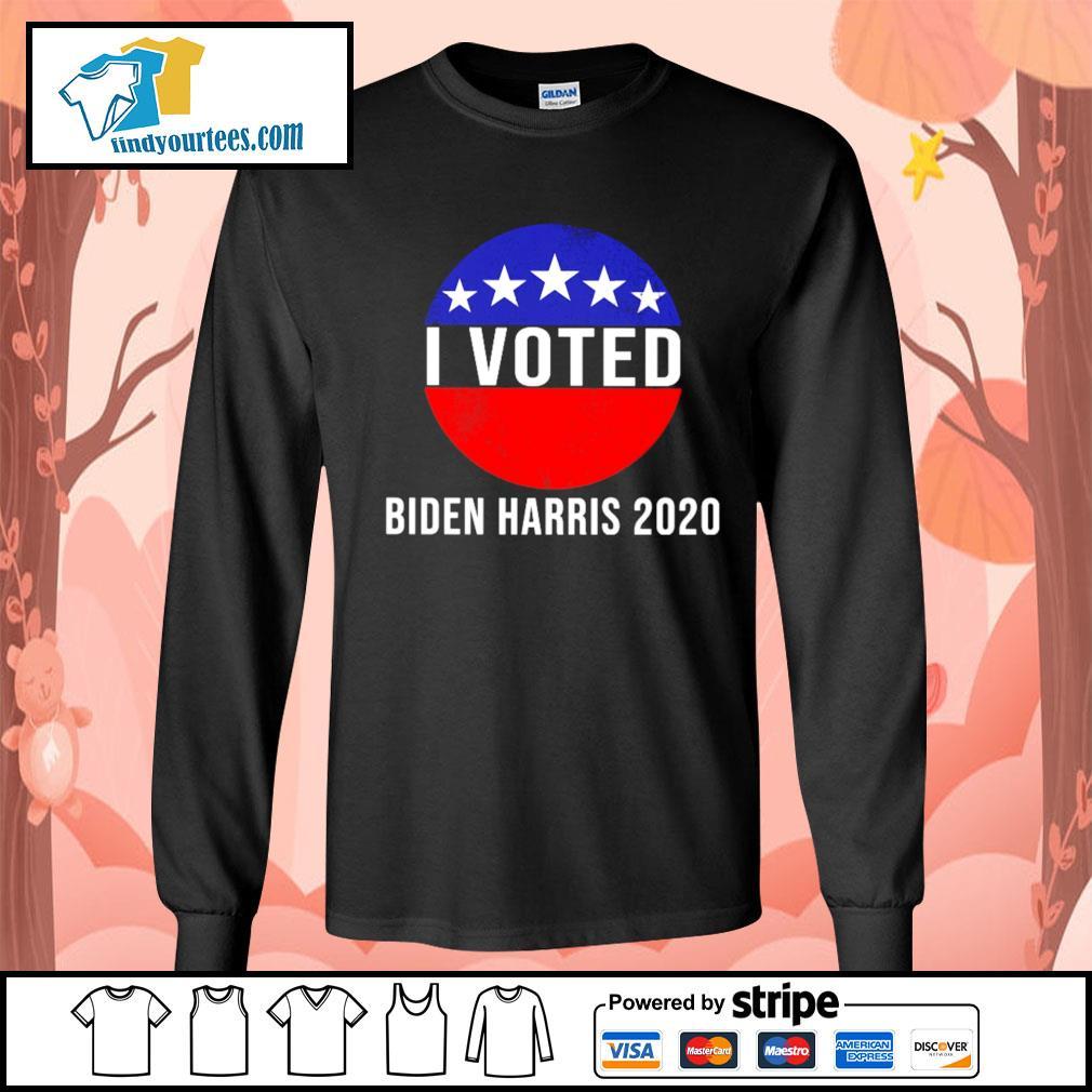 I Voted Biden Harris 2020 s Long-Sleeves-Tee