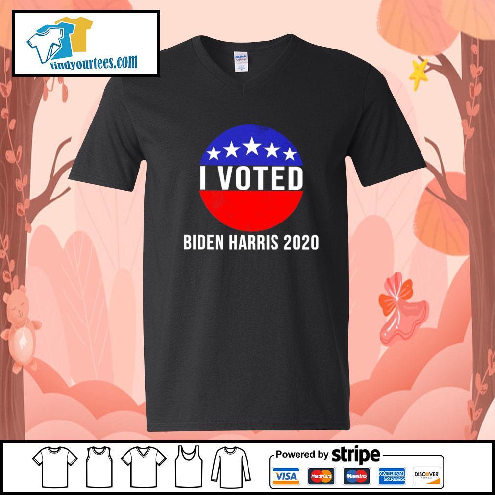 I Voted Biden Harris 2020 s V-neck-T-shirt