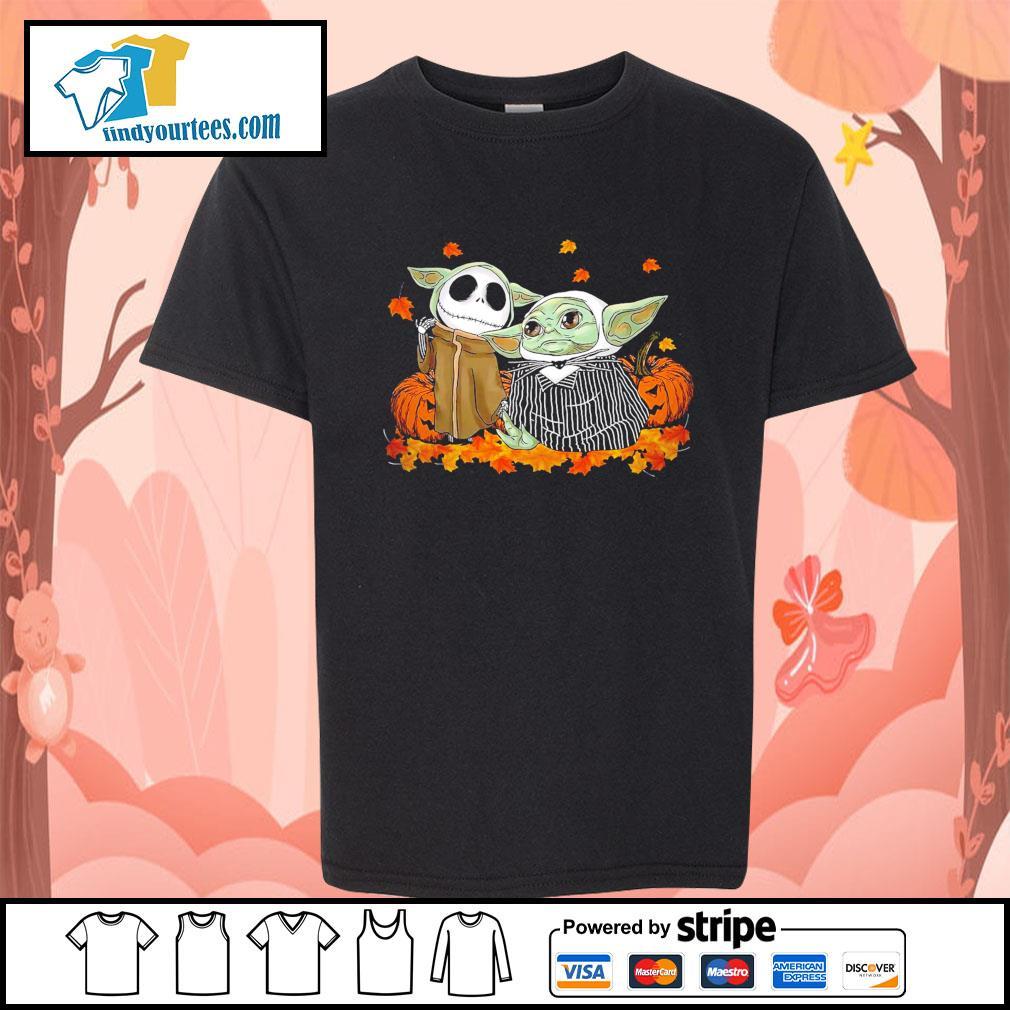 Jack Skellington and Baby Yoda thanksgiving Halloween s Kid-T-shirt