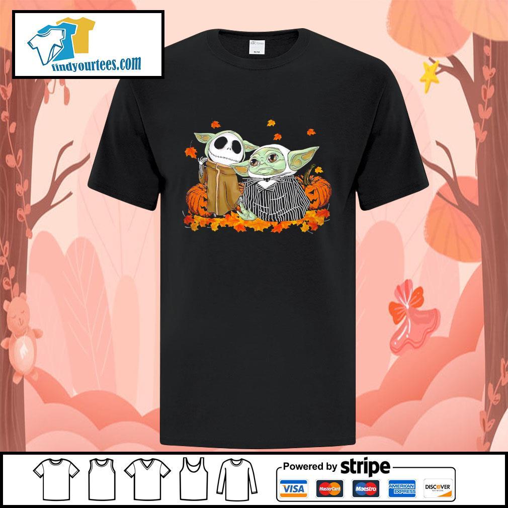 Jack Skellington and Baby Yoda thanksgiving Halloween shirt