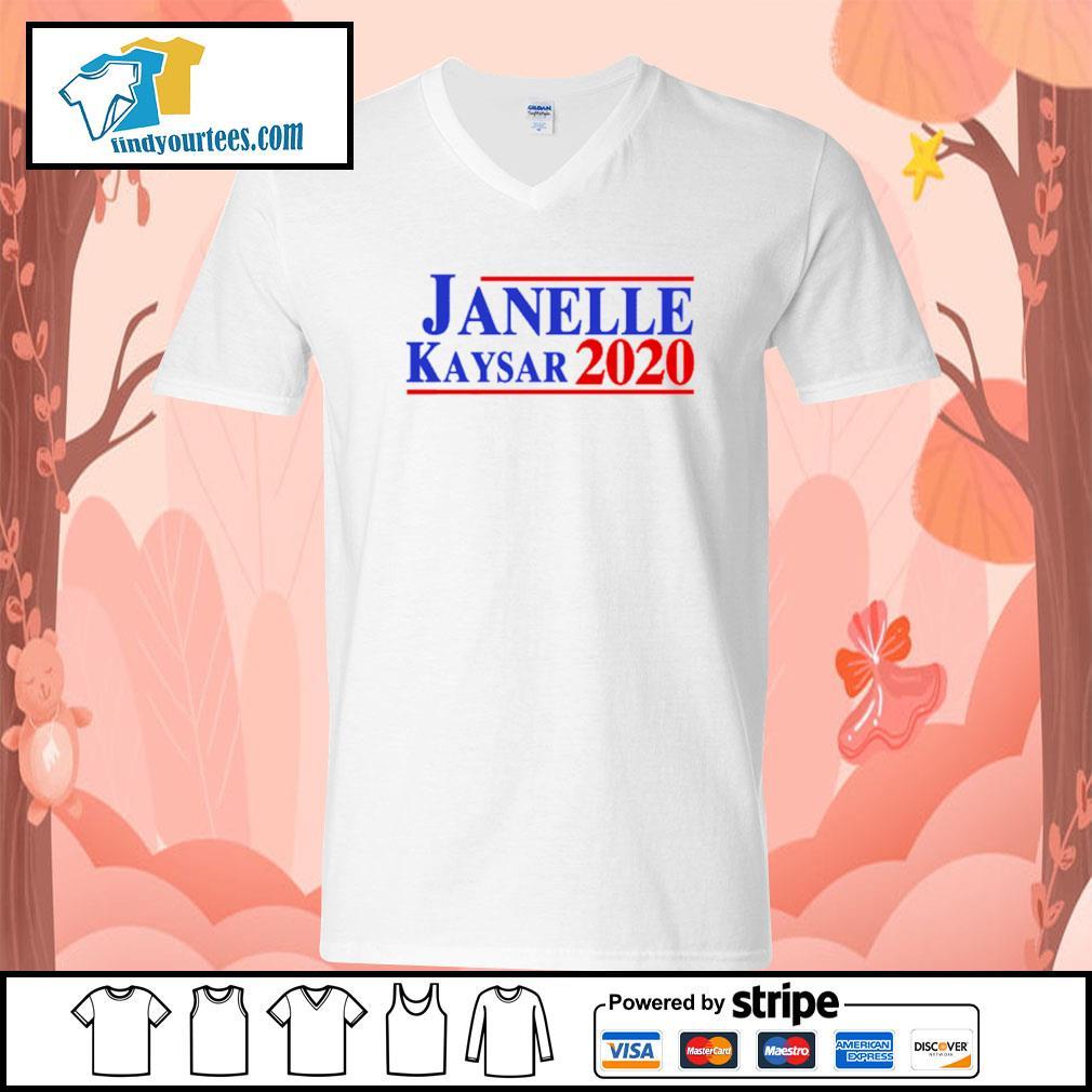 Janelle Kaysar 2020 for president American s V-neck-T-shirt