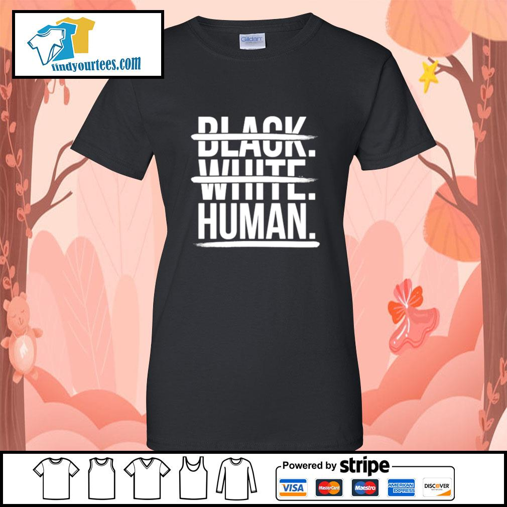 JoelPatrick Black white human s Ladies-Tee