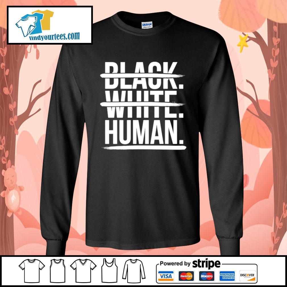 JoelPatrick Black white human s Long-Sleeves-Tee