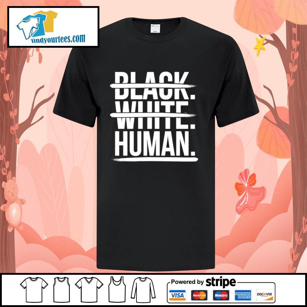 JoelPatrick Black white human shirt