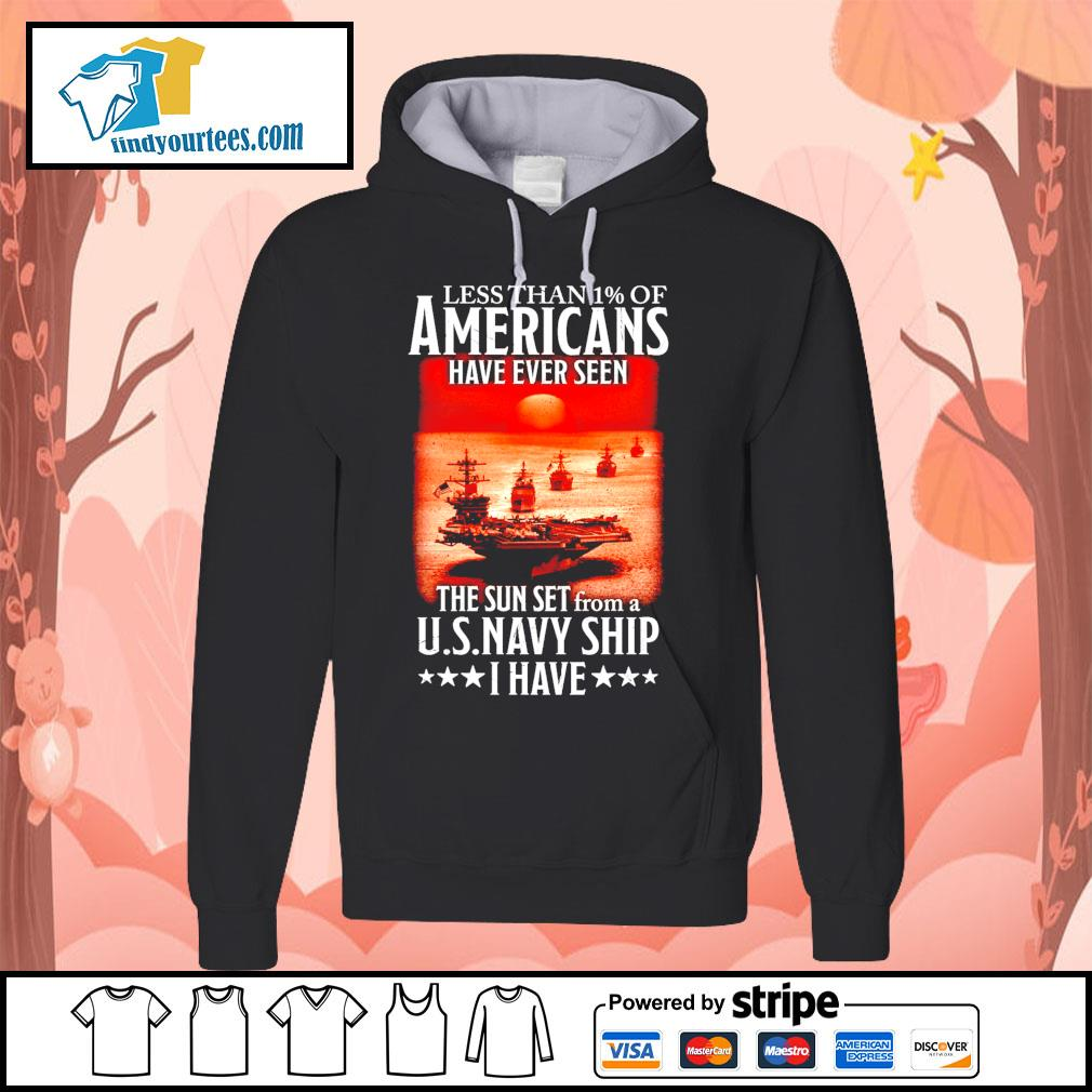 Less than 1 of Americans have ever seen the sun set from a U.S.Navy ship I have s Hoodie