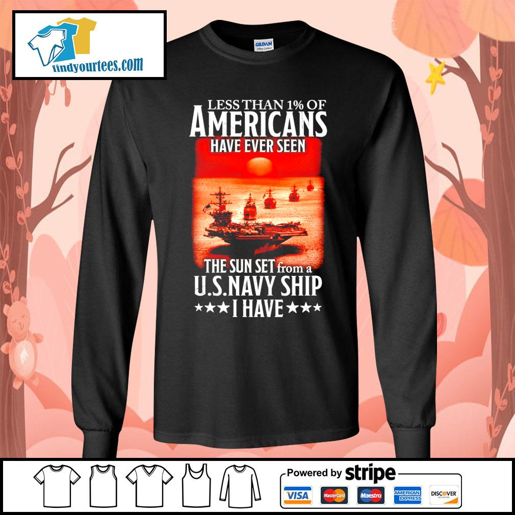 Less than 1 of Americans have ever seen the sun set from a U.S.Navy ship I have s Long-Sleeves-Tee