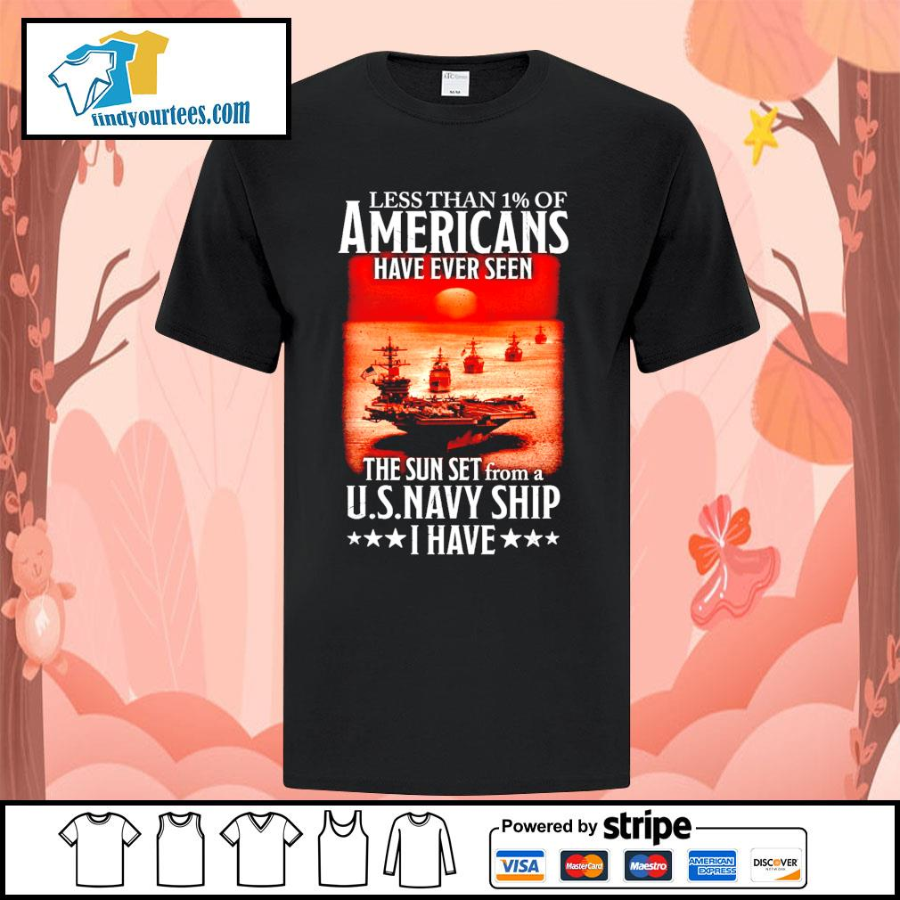 Less than 1 of Americans have ever seen the sun set from a U.S.Navy ship I have shirt