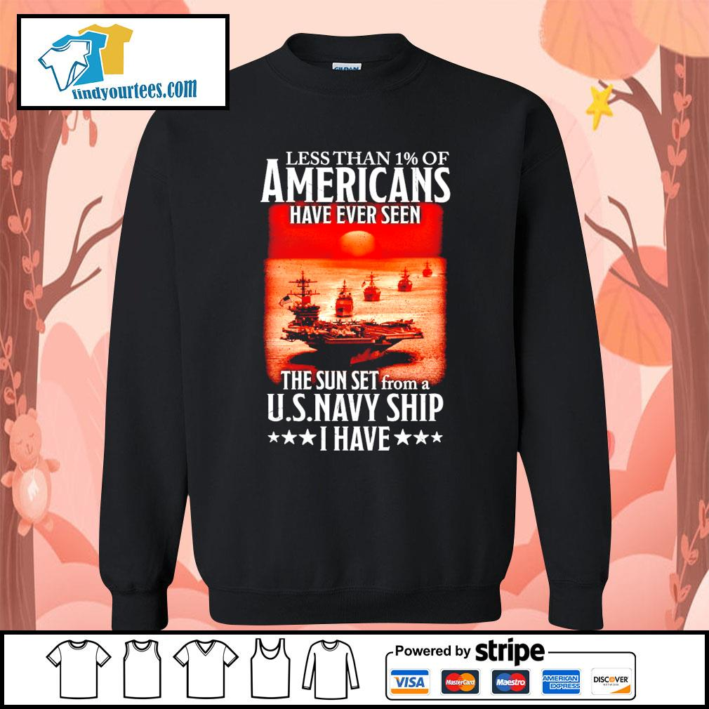 Less than 1 of Americans have ever seen the sun set from a U.S.Navy ship I have s Sweater