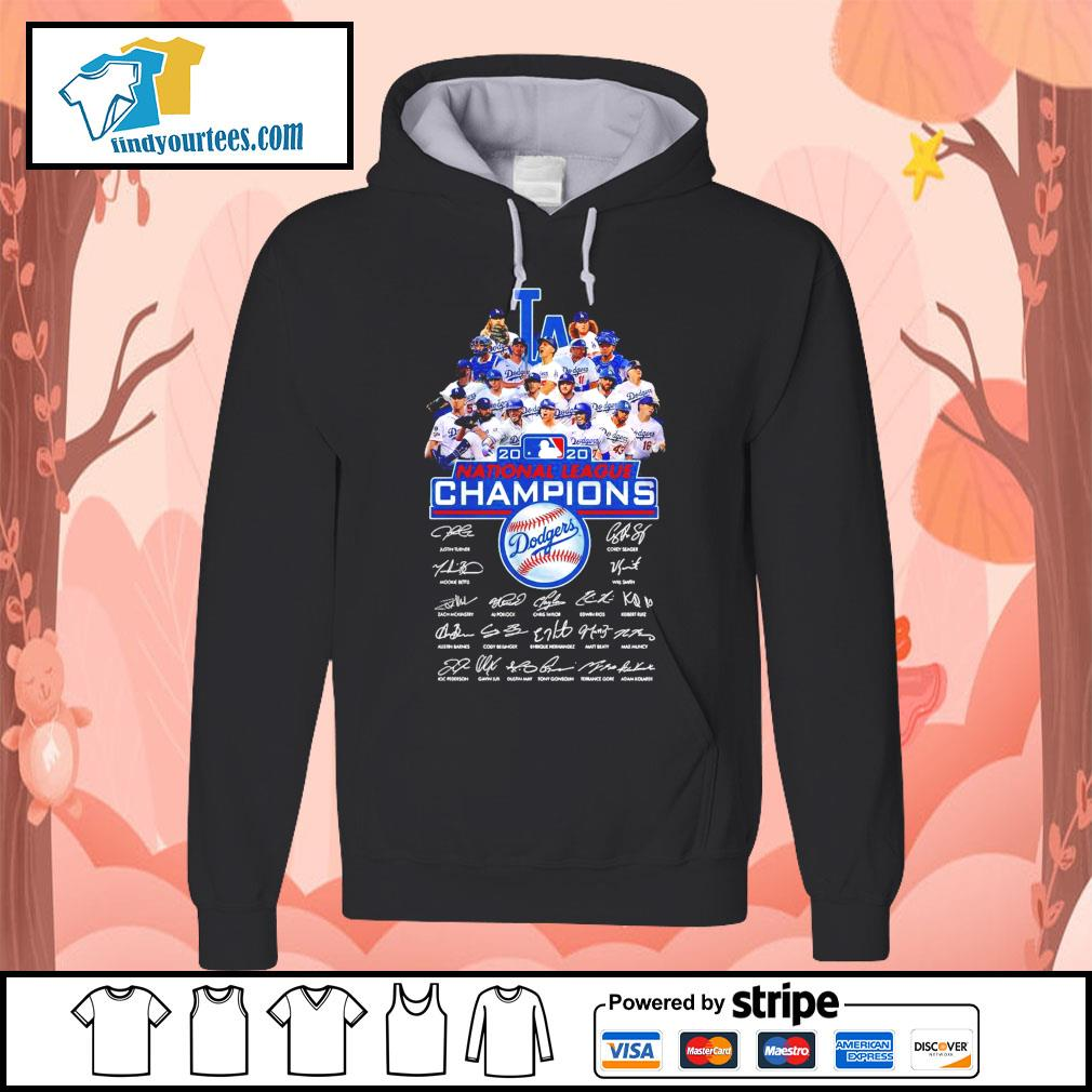 Los Angeles Dodgers 2020 National League Champions signatures s Hoodie