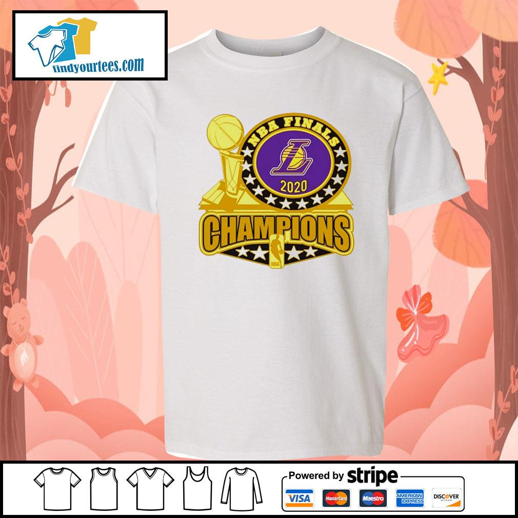 Los Angeles Lakers 2020 NBA Champions Trophy s Kid-T-shirt