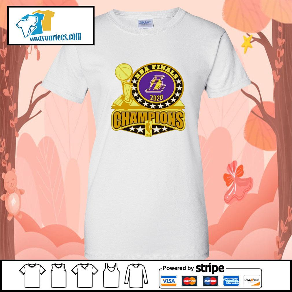 Los Angeles Lakers 2020 NBA Champions Trophy s Ladies-Tee