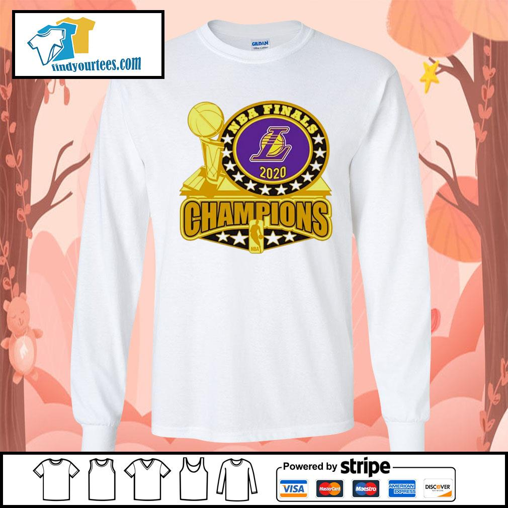 Los Angeles Lakers 2020 NBA Champions Trophy s Long-Sleeves-Tee