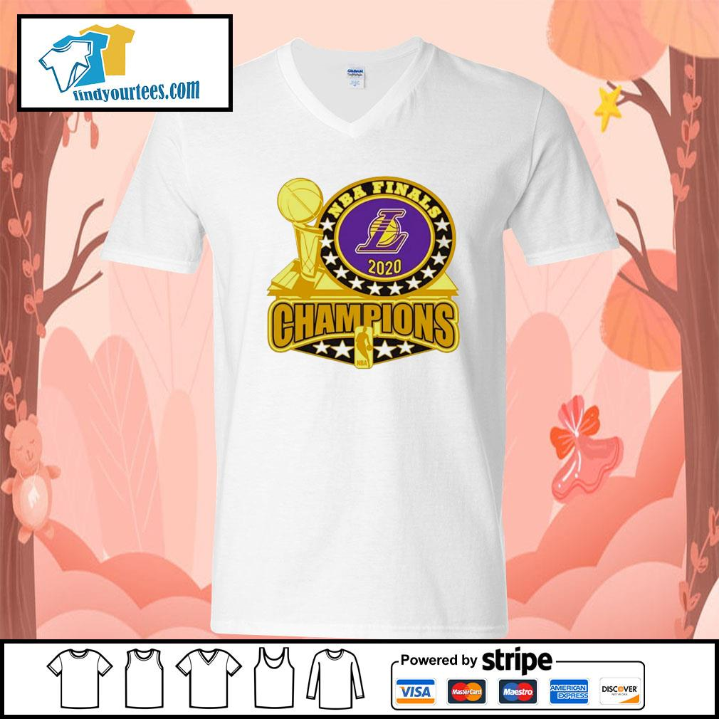 Los Angeles Lakers 2020 NBA Champions Trophy s V-neck-T-shirt