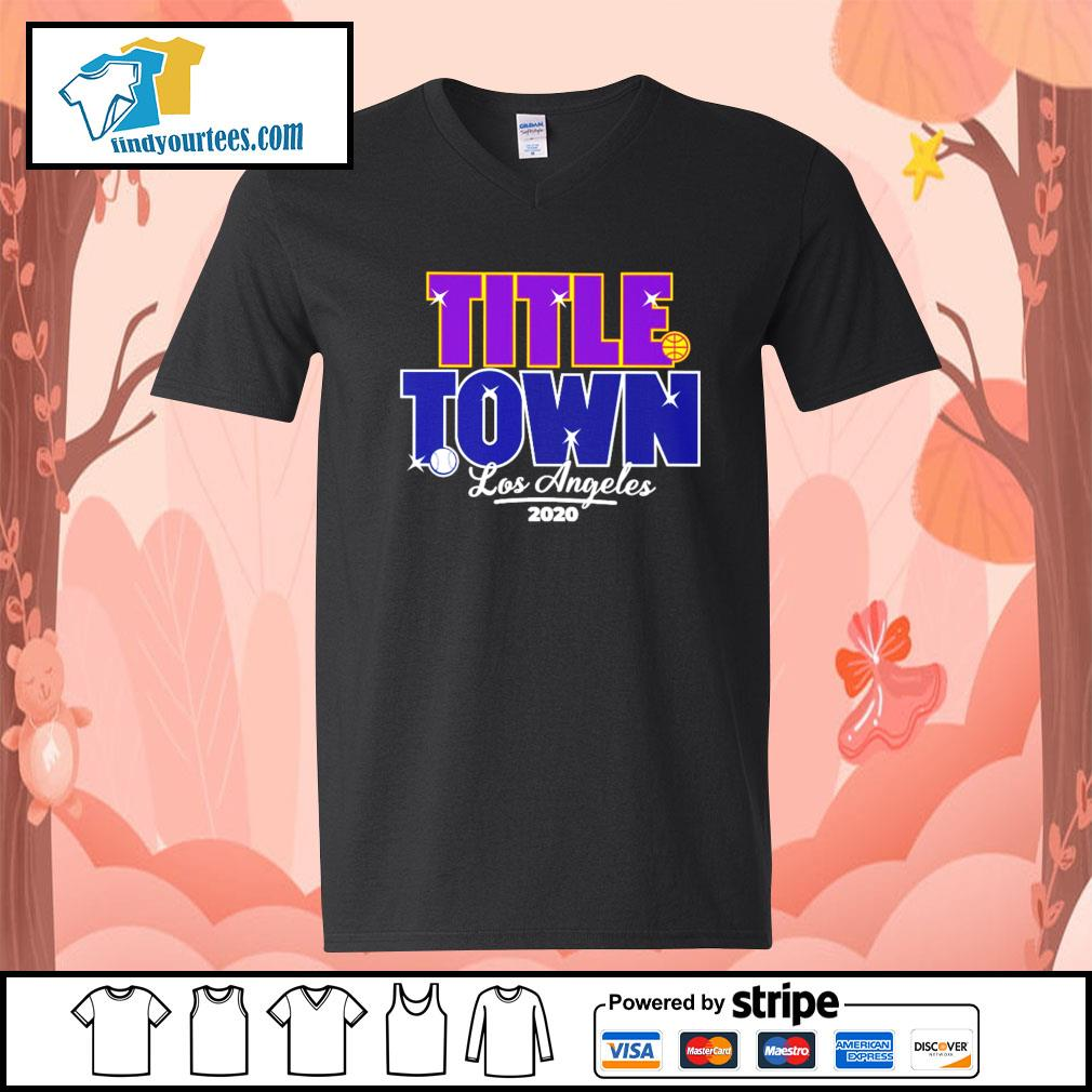Los Angeles Title Town 2020 s V-neck-T-shirt