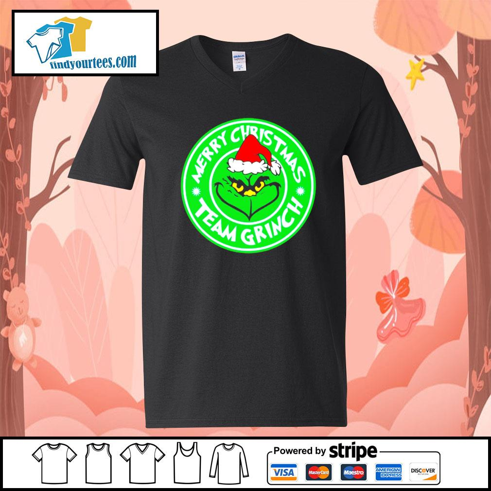 Merry Christmas team Grinch s V-neck-T-shirt