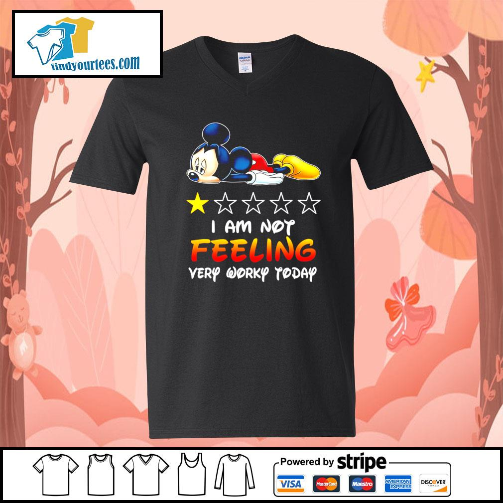 Mickey Mouse I'm not feeling very worky today s V-neck-T-shirt