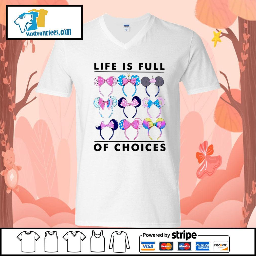 Mickey Mouse life is full of choices s V-neck-T-shirt