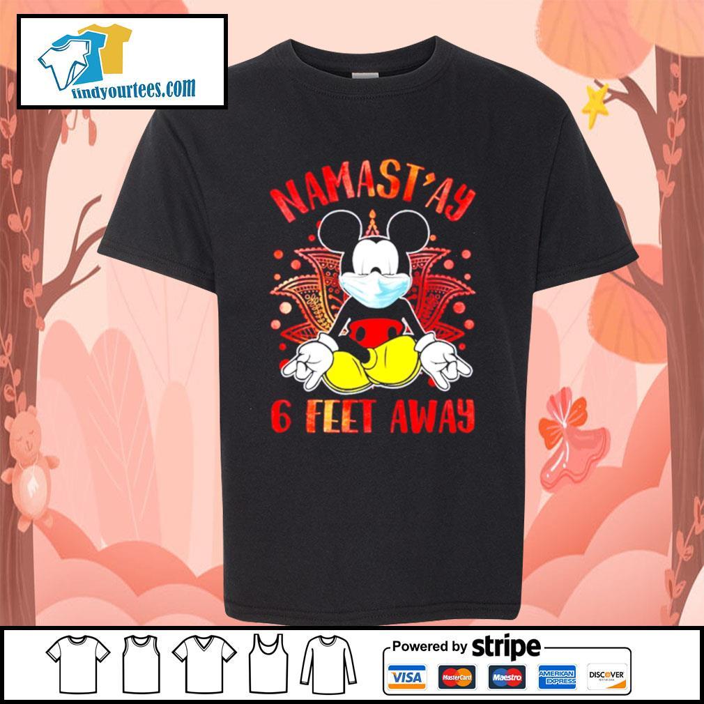 Mickey Mouse Namast'ay 6 feet away s Kid-T-shirt