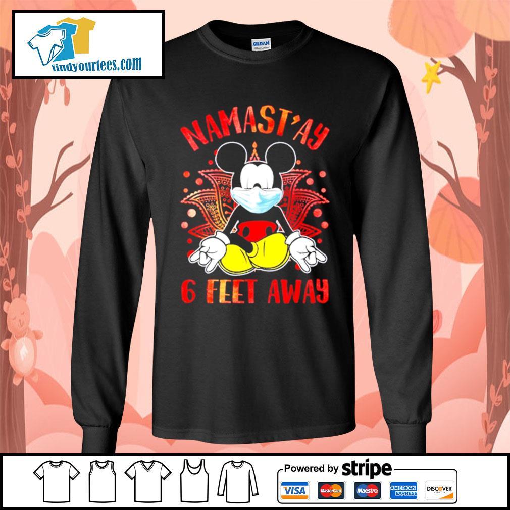 Mickey Mouse Namast'ay 6 feet away s Long-Sleeves-Tee