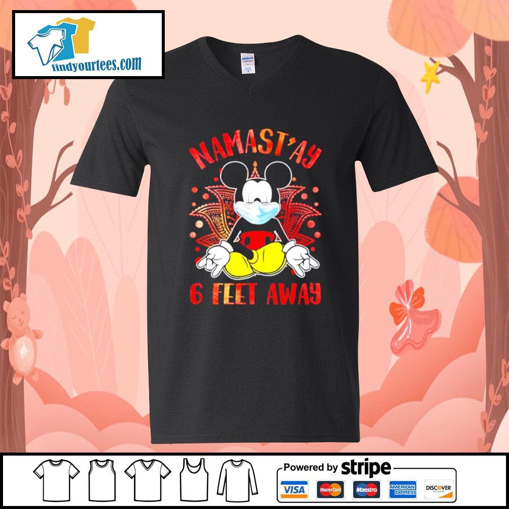 Mickey Mouse Namast'ay 6 feet away s V-neck-T-shirt