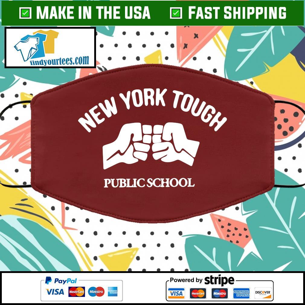 New York tough public school Face Mask Washable brown