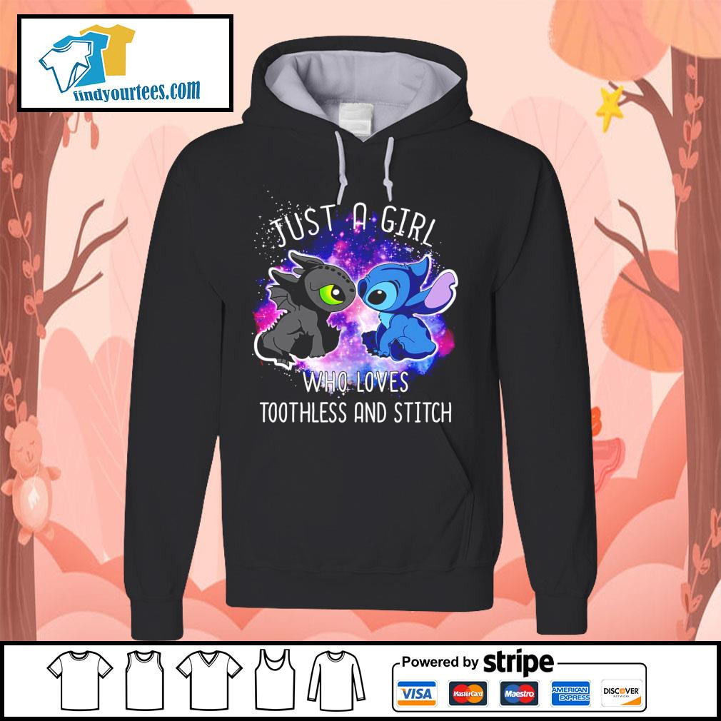 Official just a girl who loves Toothless and Stitch s Hoodie