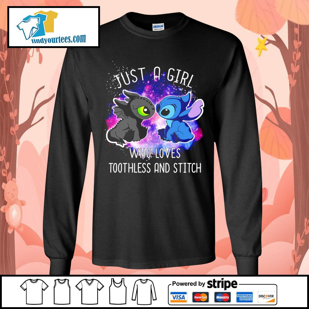 Official just a girl who loves Toothless and Stitch s Long-Sleeves-Tee