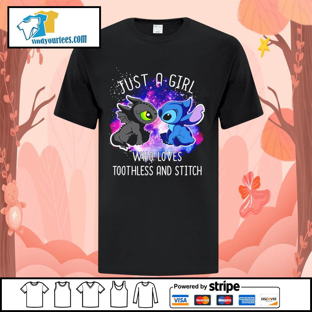 Official just a girl who loves Toothless and Stitch shirt
