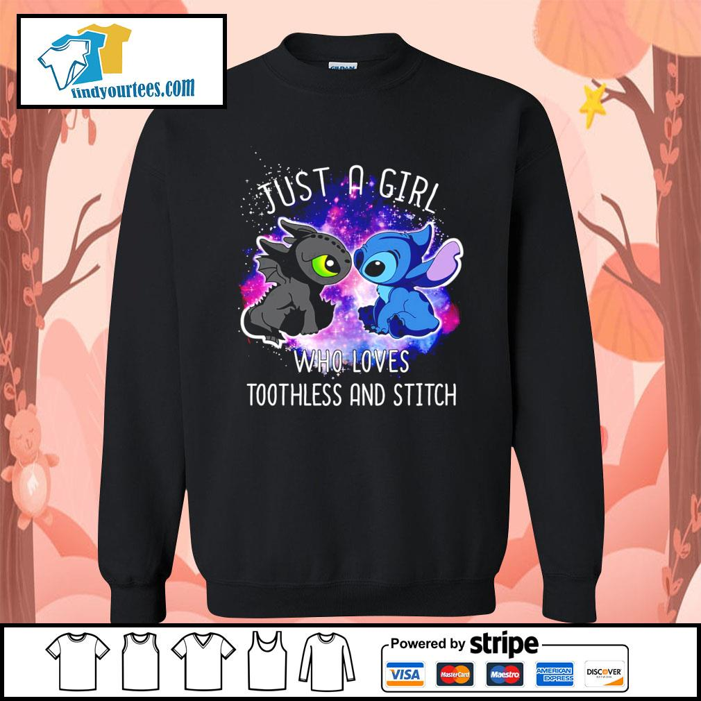 Official just a girl who loves Toothless and Stitch s Sweater
