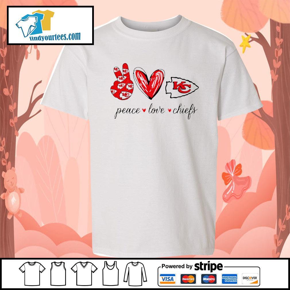 Peace Love Kansas City Chiefs s Kid-T-shirt