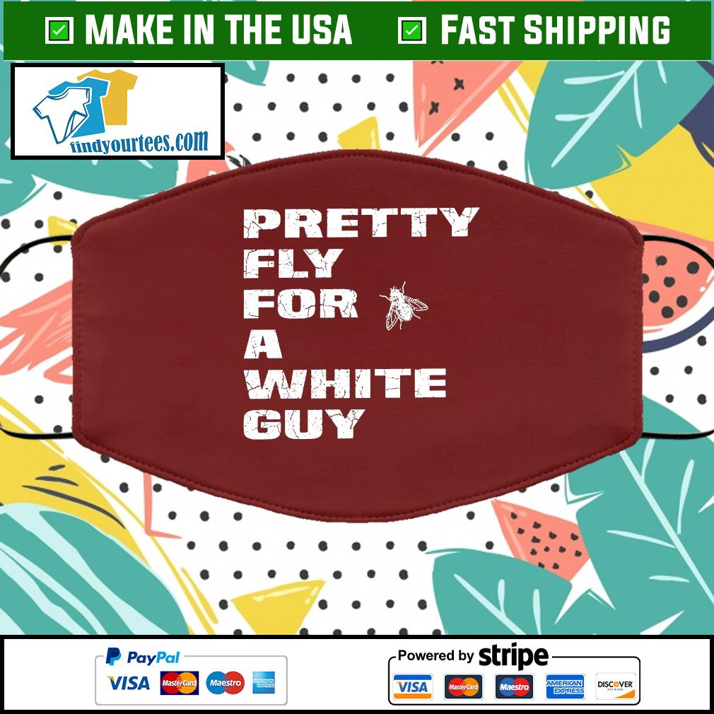 Pretty Fly For A White Guy Vintage Cloth Face Mask brown