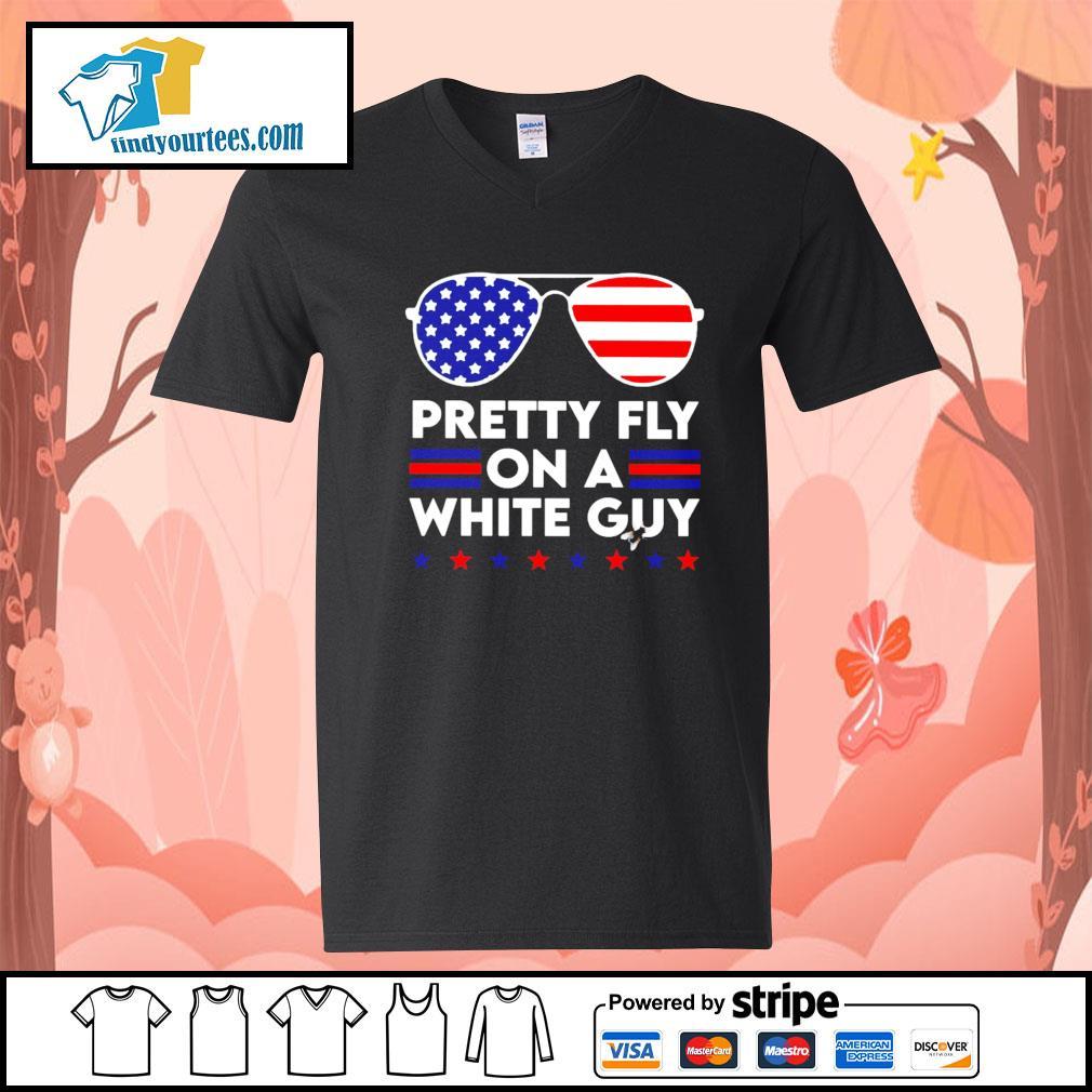 Pretty Fly on a white guy Hair Joe Biden American s V-neck-T-shirt