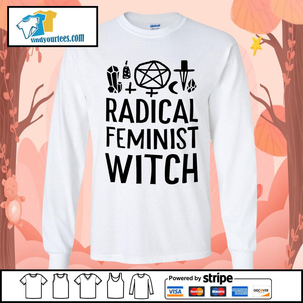 Radical feminist witch s Long-Sleeves-Tee