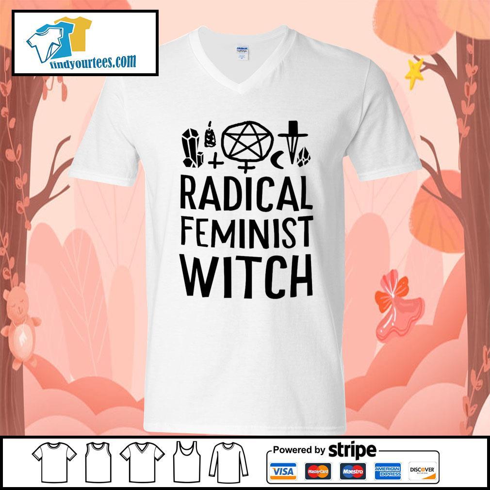 Radical feminist witch s V-neck-T-shirt