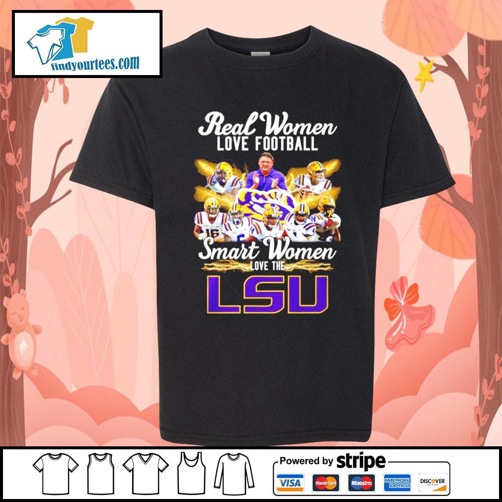 Real women love football smart women love the LSU Tigers s Kid-T-shirt