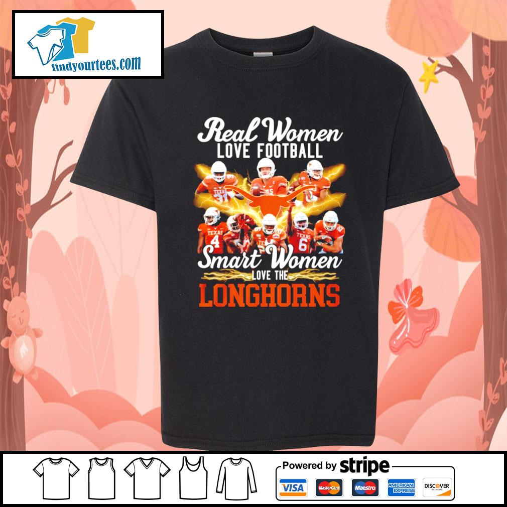 Real women love football smart women love the Texas Longhorns s Kid-T-shirt