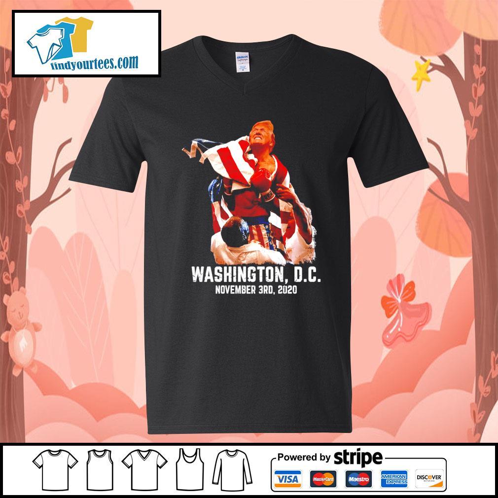 Rocky Donald Trump Washington DC november 3rd 2020 s V-neck-T-shirt