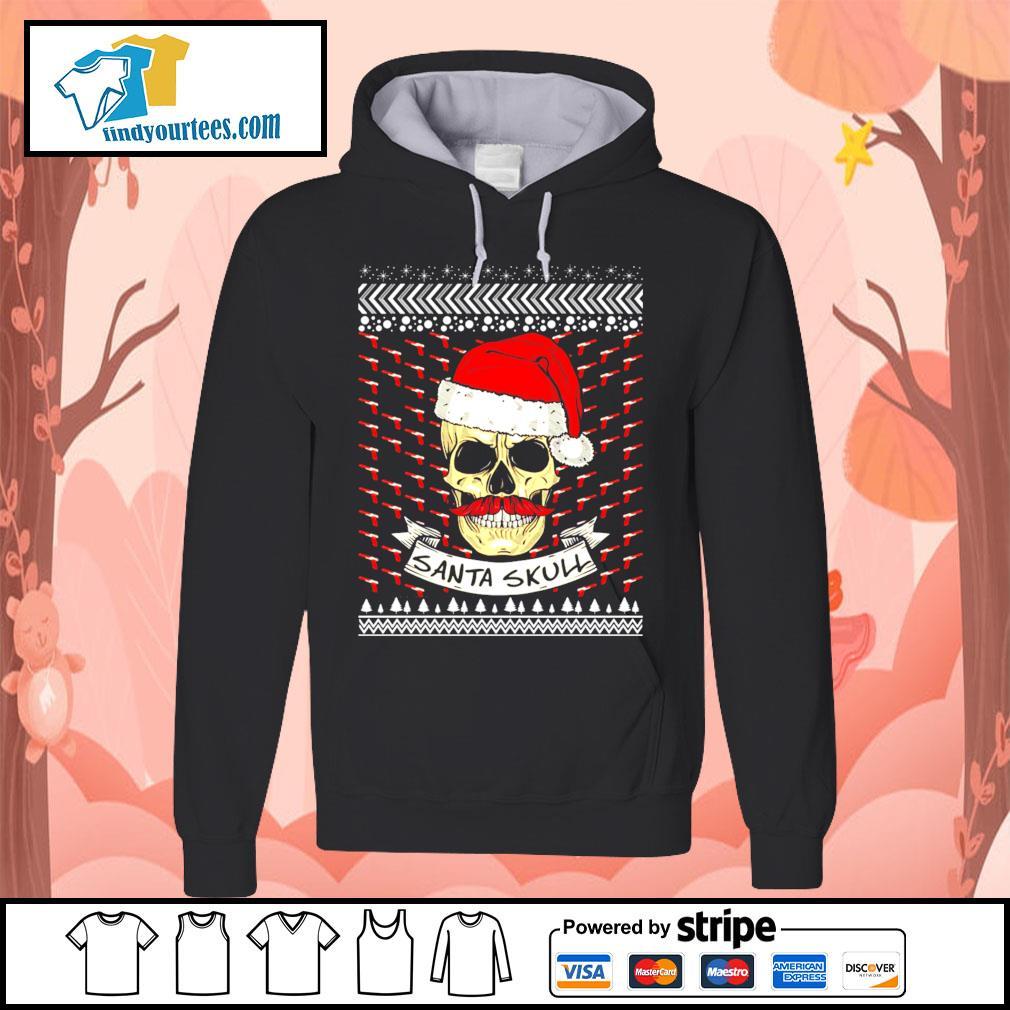 Santa Skull ugly Christmas sweater Hoodie
