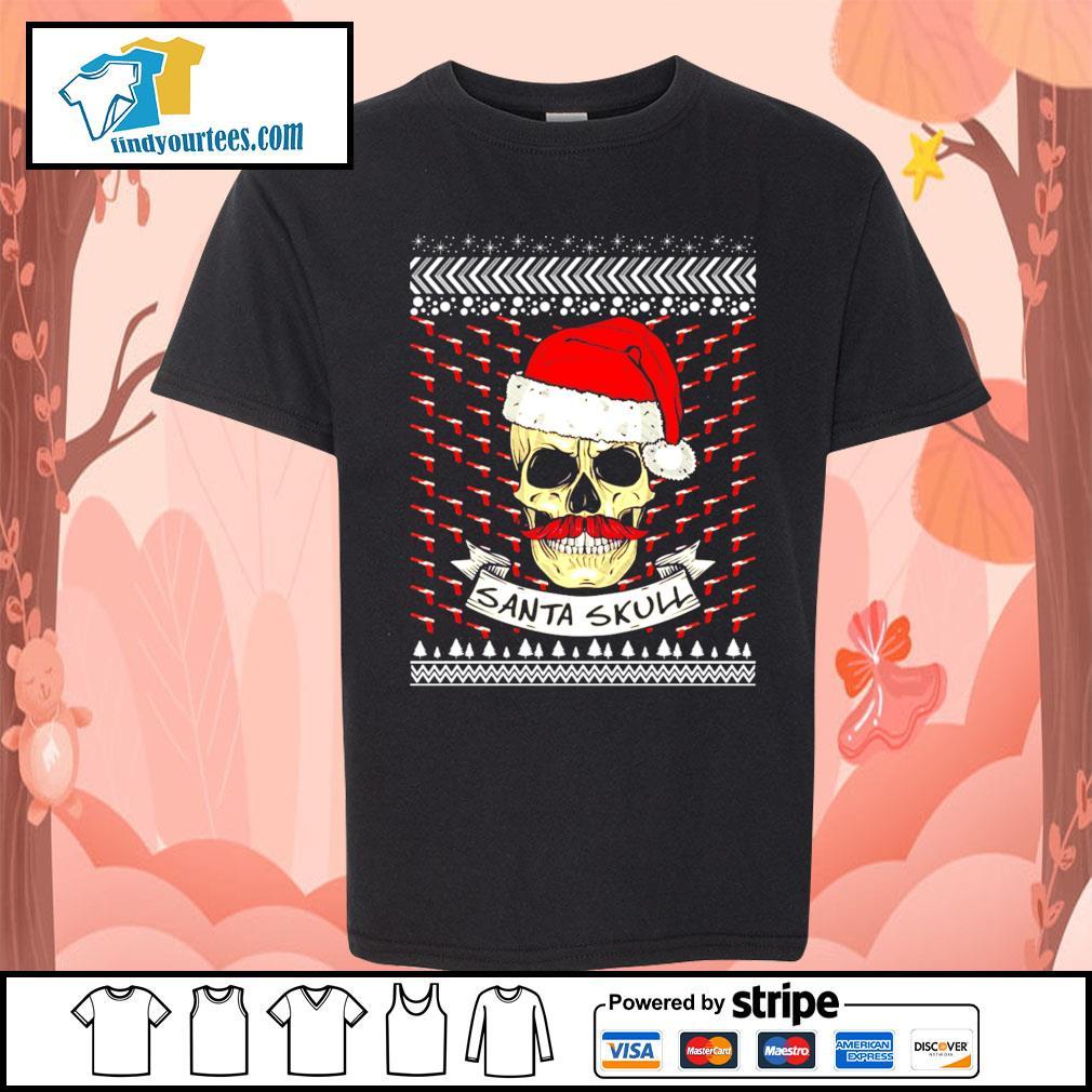 Santa Skull ugly Christmas sweater Kid-T-shirt