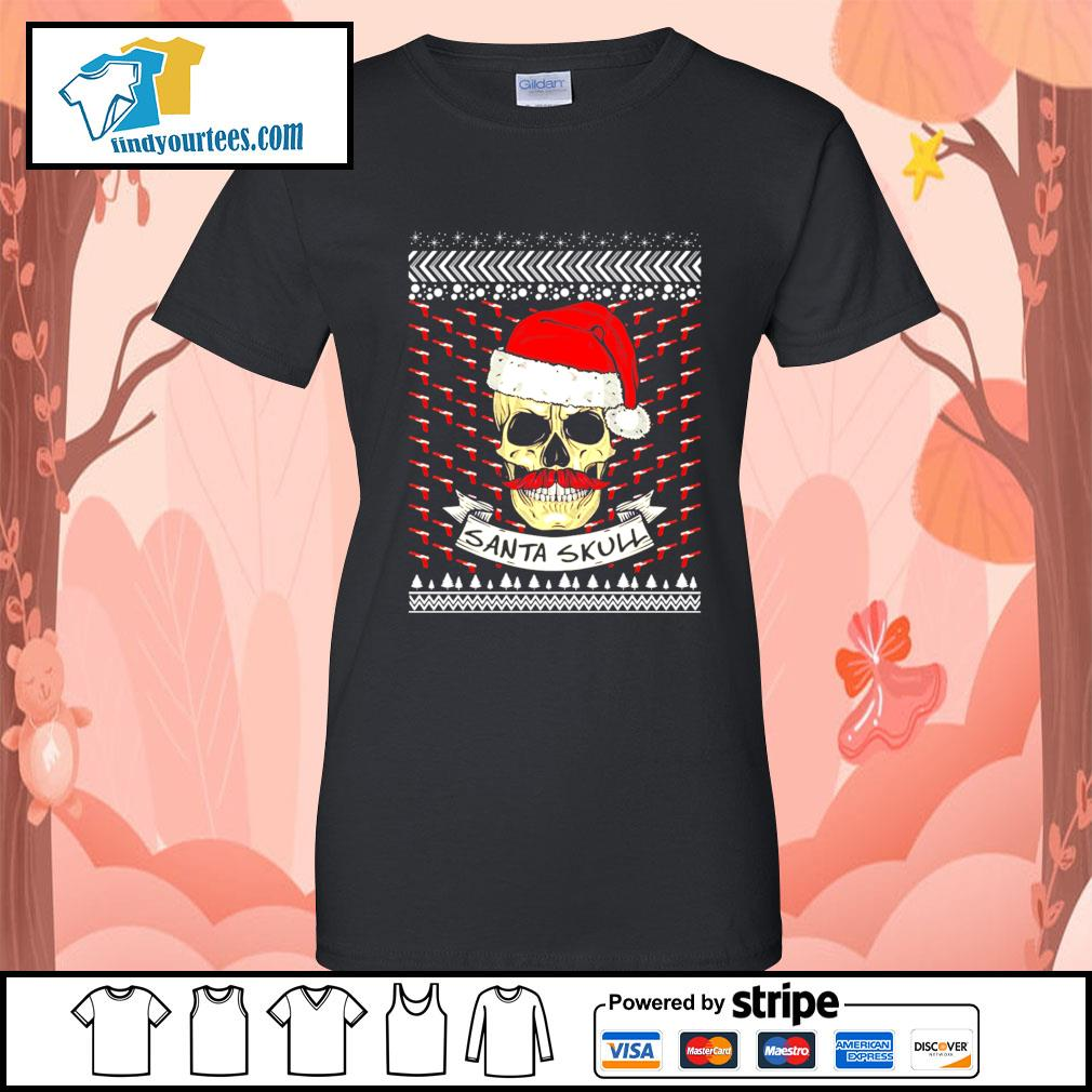 Santa Skull ugly Christmas sweater Ladies-Tee