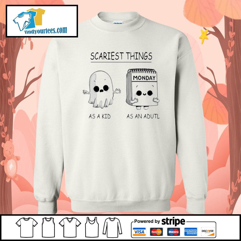 Scariest things monday as a kid as an adult s Sweater