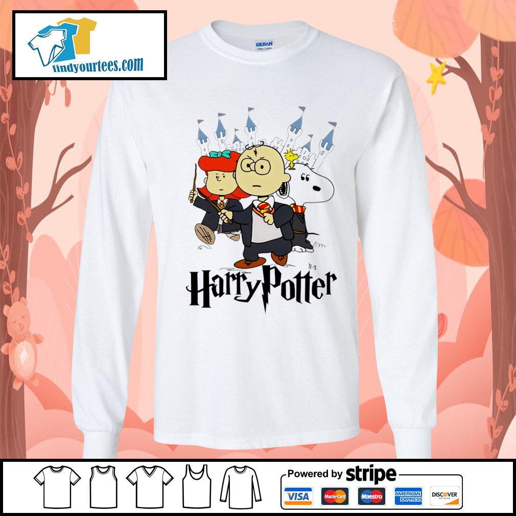 Snoopy Charlie Brown Lucy van Pelt Harry Potter s Long-Sleeves-Tee