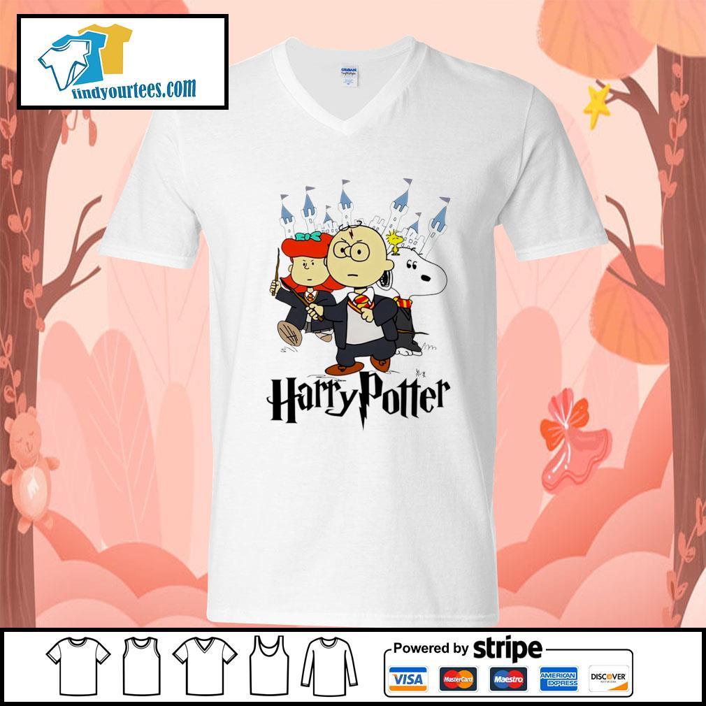 Snoopy Charlie Brown Lucy van Pelt Harry Potter s V-neck-T-shirt