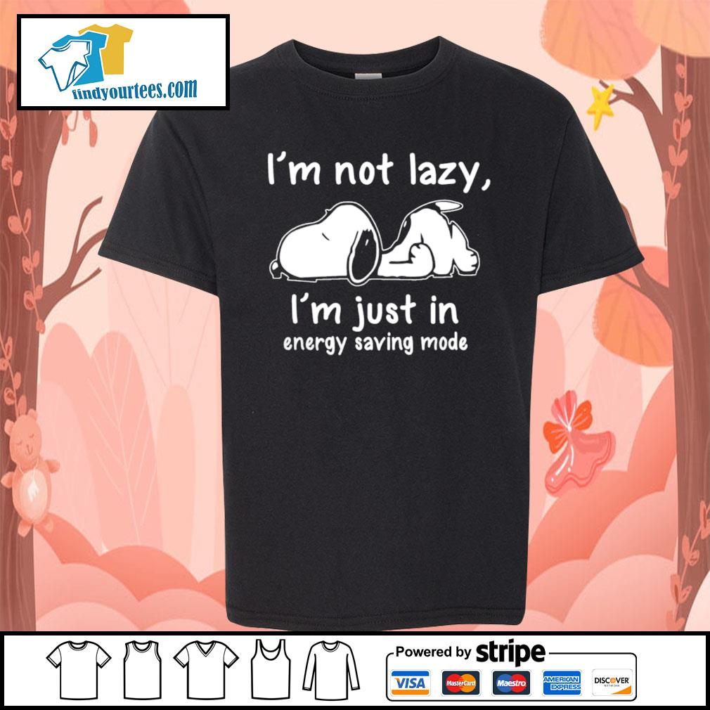Snoopy I'm not lazy I'm just in energy saving mode s Kid-T-shirt