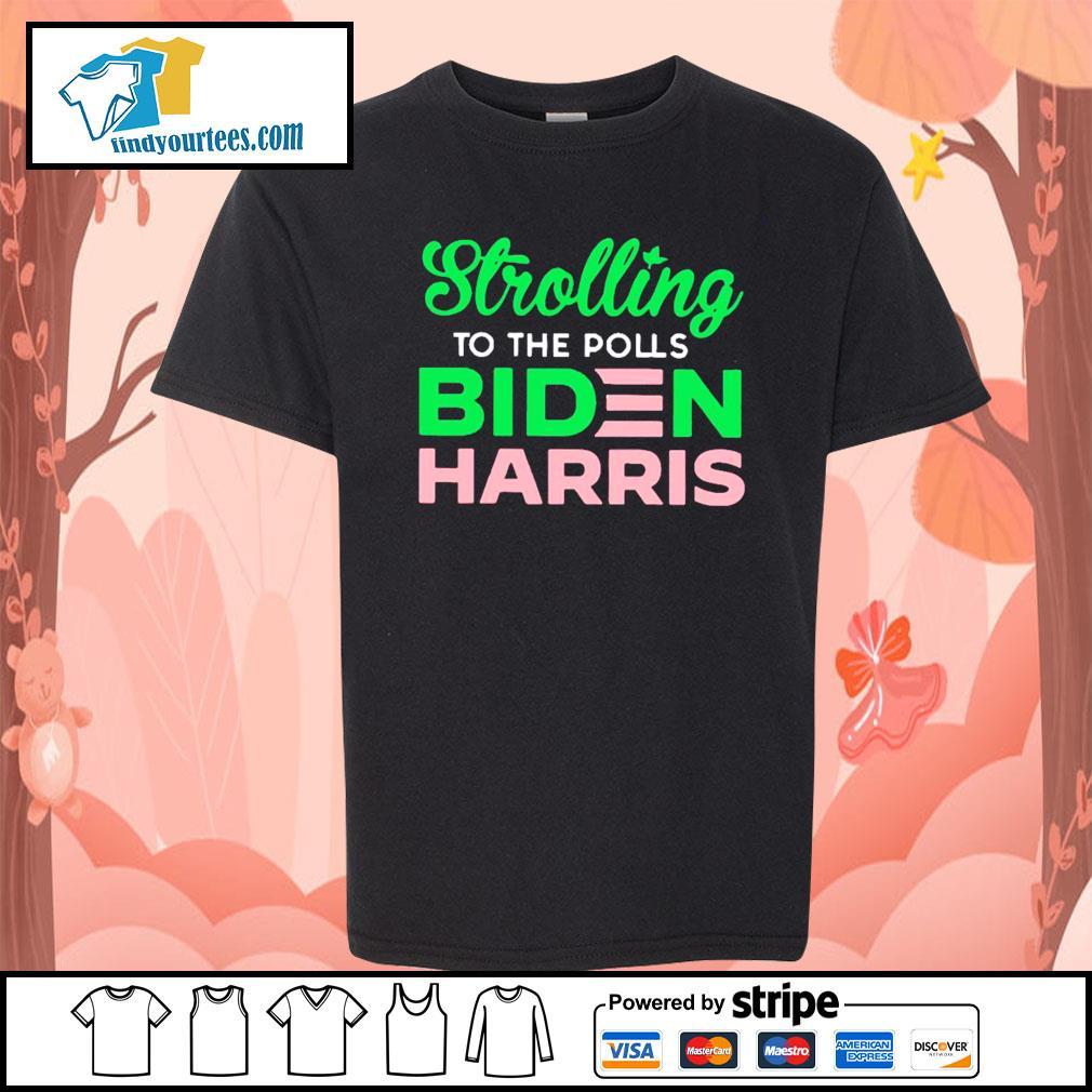 Strolling to the polls Biden Harris s Kid-T-shirt