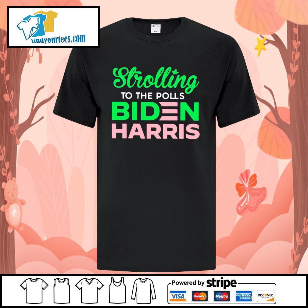 Strolling to the polls Biden Harris shirt