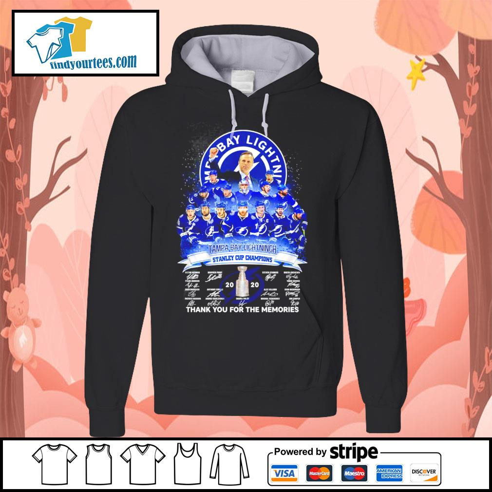 Tampa Bay Lightning stanley cup Champions thank you for the memories s Hoodie
