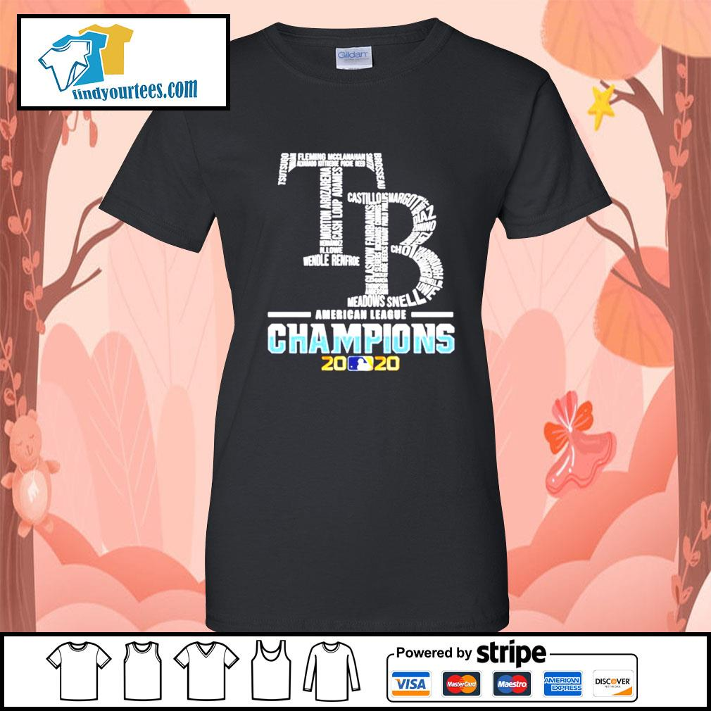Tampa Bay Rays American League Champions 2020 s Ladies-Tee
