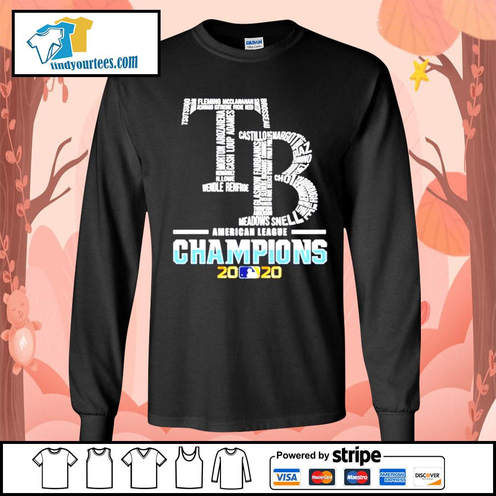 Tampa Bay Rays American League Champions 2020 s Long-Sleeves-Tee